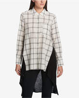 DKNY Cotton Printed-Front Tunic