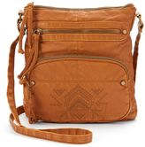 Mudd Topaz Embroidered Crossbody Bag