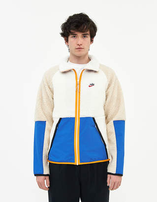 Nike Sherpa Fleece Zip Jacket in Sail