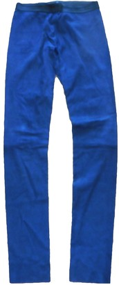 Drome Navy Suede Trousers