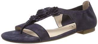 Caprice Women's Laura Ankle Strap Sandals, Blue (Navy Pearl Sue 812)