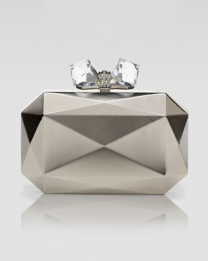 Judith Leiber Overture Danielle-Faceted Rectangle Metal Clutch Bag