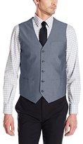 Perry Ellis Men's Slim Fit Chambray Stretch Suit Vest