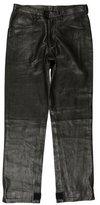 Prada Leather Straight-Leg Pants w/ Tags
