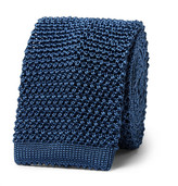 Richard James 6cm Knitted Silk Tie - Blue