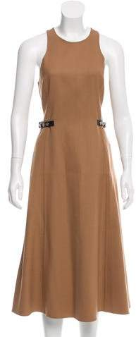 Alexander Wang Leather-Trimmed Wool Dress w/ Tags