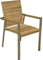 Highline Teak & Stainless Steel Armchair