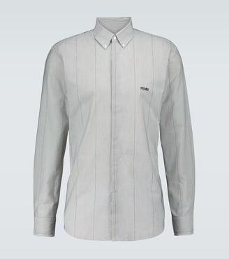 Fendi Micro striped shirt