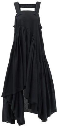 Loewe Paula's Ibiza - Asymmetric Gathered Tank Dress - Black