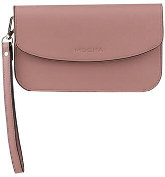 Mocha Simple Chain Clutch Bag - Blush