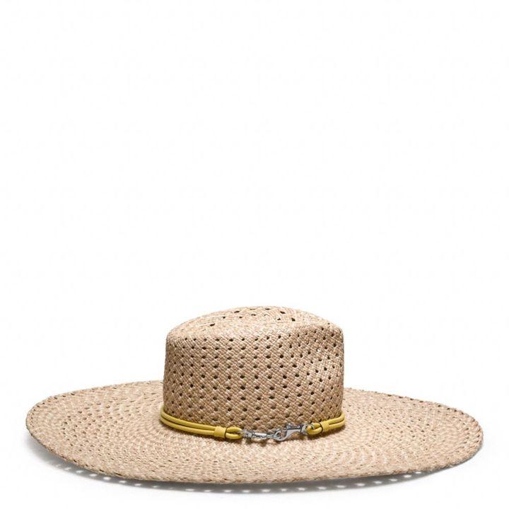 Coach Braided Floppy Hat