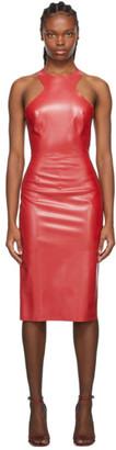 Saint Laurent Red Latex Dress