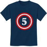 TeeStars - Captain 5th Birthday - Gift for Five Years old Youth Kids T-Shirt