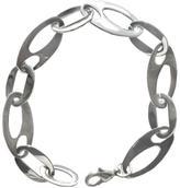 I.S. Stainless Steel Oblong Link Bracelet