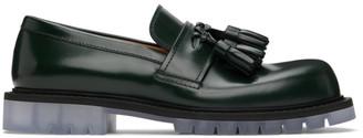 Bottega Veneta Green Tassel Loafers