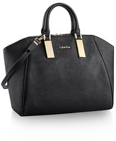 Calvin Klein Scarlett Dome Saffiano Leather Satchel