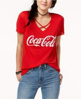 Freeze 24-7 Juniors' Coca Cola Crisscross Graphic T-Shirt