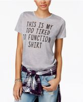 Mighty Fine Juniors' Too Tired Graphic T-Shirt