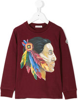 Moncler Native American print top - kids - Cotton - 4 yrs