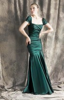 Theia Ruched Mermaid Gown 881422