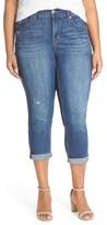 Melissa McCarthy Plus Size Women's Stretch Crop Jeans