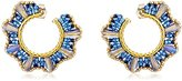 Miguel Ases Small Blue Cone Twisted Hoop Earrings