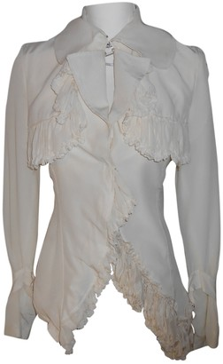 John Rocha White Silk Top for Women