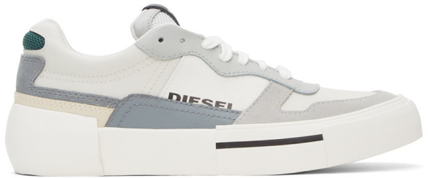 Diesel White and Grey S-Dese Sneakers