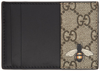 Gucci Beige GG Bee Card Holder