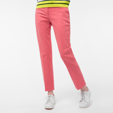 Paul Smith Women's Slim-Fit Coral Stretch-Cotton Chinos