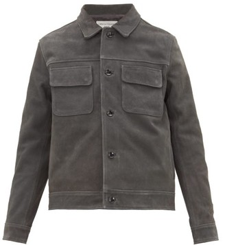 Officine Generale Otto Patch Pocket Suede Jacket - Mens - Grey