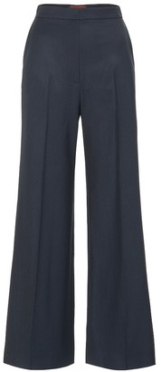 ALEXACHUNG High-rise wool wide-leg pants