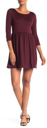 Collective Concepts Knit 3/4 Length Sleeve Dress