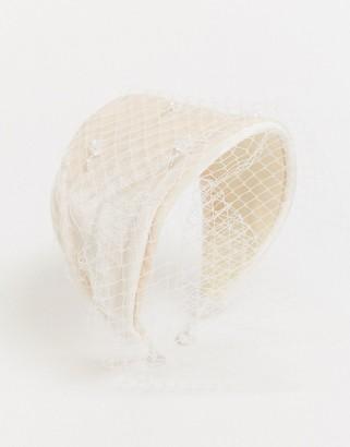 ASOS DESIGN fascinator headband with statement netting