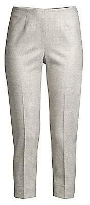 Peserico Women's Side Zip Plaid Wool-Blend Pants