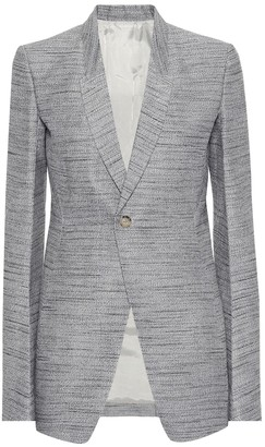Rick Owens Cotton and silk-blend blazer