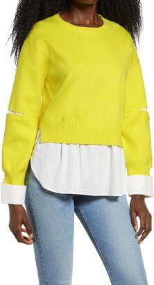 ENGLISH FACTORY Layered Sweater