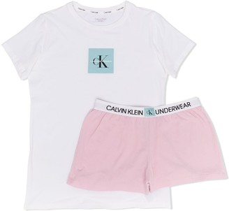 Calvin Klein Kids TEEN logo print T-shirt