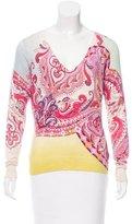 Etro Printed V-Neck Sweater