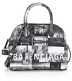 Balenciaga Women's Small Ville New York Skyline Top Handle Leather Bag