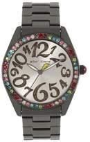 Betsey Johnson Women's Rainbow Bezel Watch, 40mm