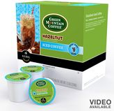 Keurig k-cup ® portion pack green mountain coffee hazelnut iced coffee - 16-pk.