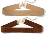 New York & Co. Faux-Suede Choker Set