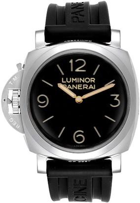 Panerai Black Stainless Steel and Rubber Luminor 1950 PAM00557 Men's Wristwatch 47MM