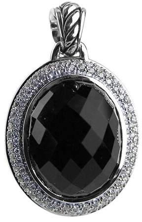 David Yurman Amazing Sterling Silver Onyx & Diamond Diamonds Pendant