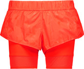 adidas by Stella McCartney Mesh-trimmed shell and stretch-jersey shorts