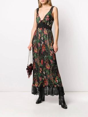 Paco Rabanne Floral Lace Maxi Dress