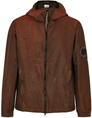 C.P. Company P.Ri.S.M. rust hooded shell jacket