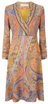 Etro Paisley V-Neck Dress