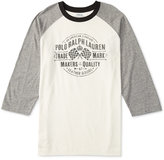 Ralph Lauren Little Boys' Graphic-Print Baseball Shirt